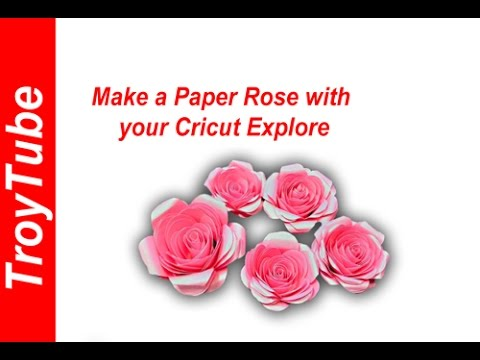 How To make a paper flower with Cricut (Rose)