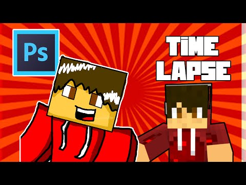Minecraft Photoshop Time Lapse Cartoon   Custom Creation [1]