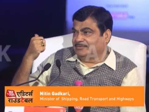 Editor Round-Table: Nitin Gadkari On Road Construction In BJP Government