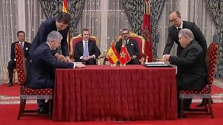 مكافحة الجريمة والطاقة والتجارة أبرز الاتفاقات الموقعة بين المغرب وإسبانيا…