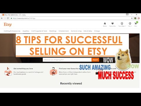 8 TIPS FOR SUCCESSFUL SELLING ON ETSY