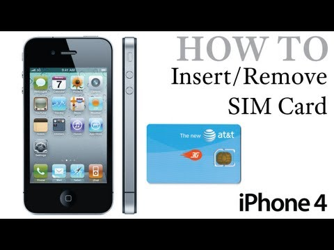 iPhone 4 How To: Insert / Remove a SIM Card