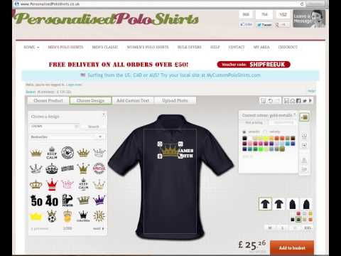Personalised Polo Shirts - Here's How to Design Your OWN Personalised Polo Shirts online!