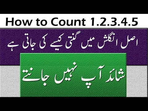Real Pronunciation of English Numbers Counting For Kids