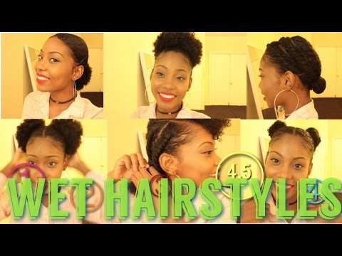 4.5 NATURAL HAIR STYLES ON WET (or dry) HAIR
