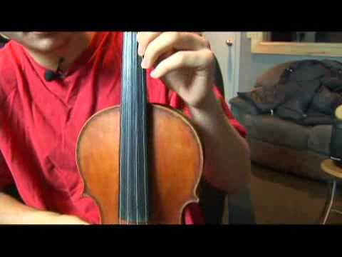 Violin B Harmonic Minor Scale: Open Strings