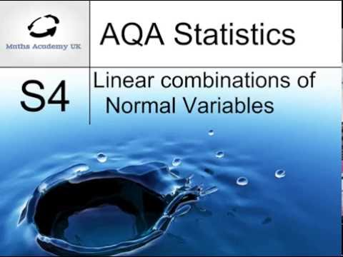 Linear combinations of Normal variables