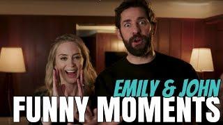 Emily Blunt & John Krasinski Funny Moments