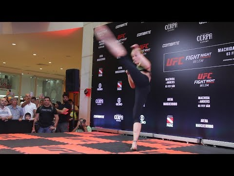 Valentina Shevchenko Shows Off Striking Dance at UFC Belem Workouts - MMA Fighting