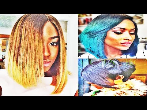 Really Awesome Straight Bob With Weave Hairstyles for African American Womens