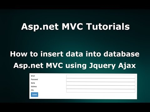 How to Insert Data into Database in  Asp.net MVC using Jquery Ajax