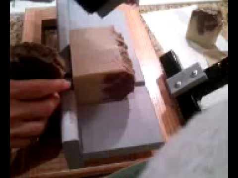 Cutting Almond Amaretto soap