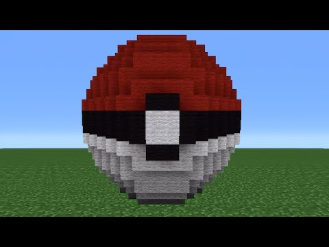 Minecraft Tutorial: How To Make A PokeBall Statue