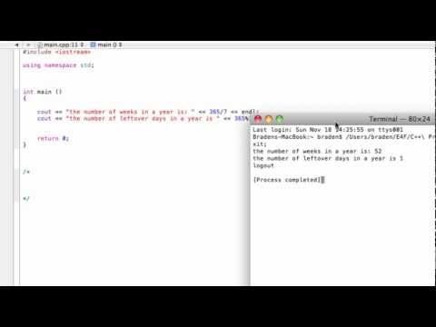 Integer division and remainders using the modulus (%) operator (C++ programming tutorial)