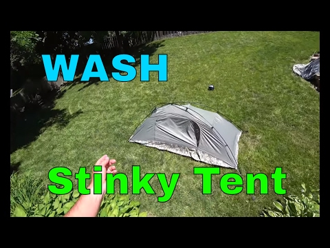 How to Wash a Tent with Bad Odor Smell | ICS Improved Combat Shelter