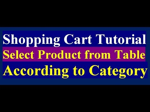 how to select product according to the category | shopping cart tutorial part 3