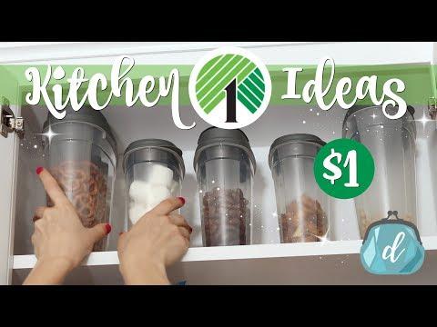 💚 DOLLAR TREE Kitchen Cabinet Makeover! 💚