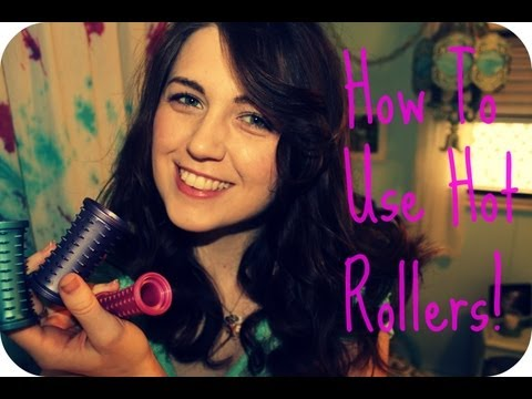 How To  Use Hot Rollers For Curls and Volume