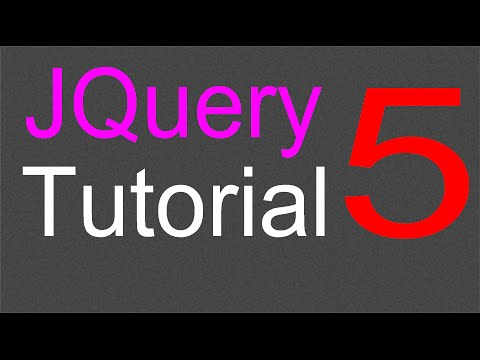 JQuery Tutorial for Beginners - 5 - JQuery Selectors Part 1