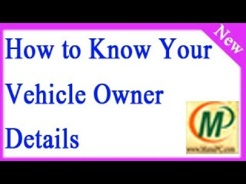 How to Know Your Vehicle Owner Details Online