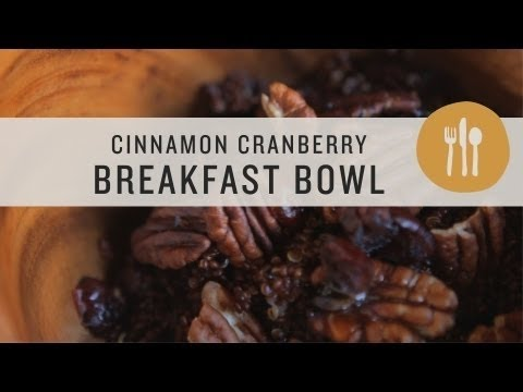 Cinnamon Cranberry Breakfast Bowl