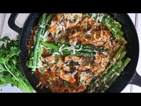 KETO Creamy Chicken Mushrooms & Asparagus | Episode 159