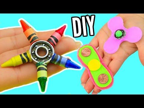 DIY FIDGET SPINNERS! 3 Ways To Make A Fidget Spinner Toy!