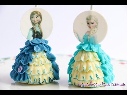 How to make frozen cake pops. Princess cake pop dress tutorial- Rosie's Dessert Spot