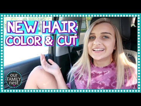 NEW HAIR CUT & BLONDE HIGHLIGHTS!