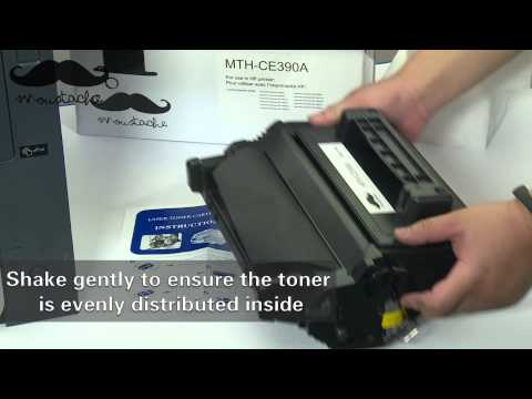 How to install Moustaches CE390A toner cartridge for HP Laserjet 600