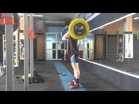 Push press + jerk 100kg