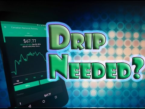 Robinhood APP - Dividend Reinvestment DRIP Needed with $0 Commission Stock Trading?