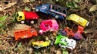 Looking for toy vehicles in green bushes of a deep forest near a village - Finding Desi Toy Vehicles