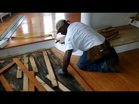 Removing a hardwood floor for reuse