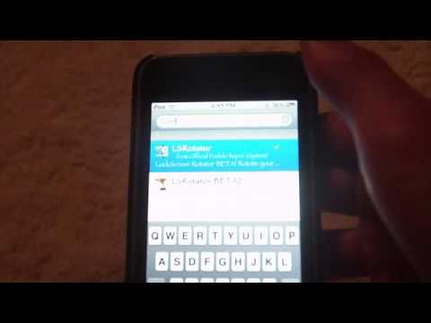 iPod Touch/iPhone: How to make Lock Screen Rotate