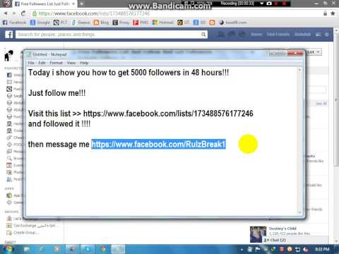 How To Get Facebook FREE Followers Via List