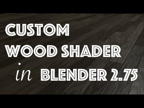 Custom Wood Shader in Blender 2.75