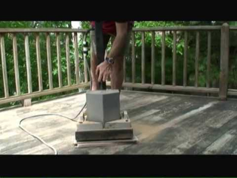 Sanding Wood Decks Video