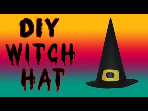 😈 Easy DIY Halloween Witch Hat Tutorial 😈