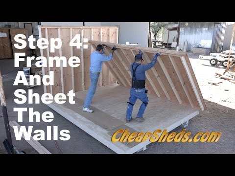 How To Frame And Sheet The Walls For A Tall Barn And Deluxe Gable Roof Shed