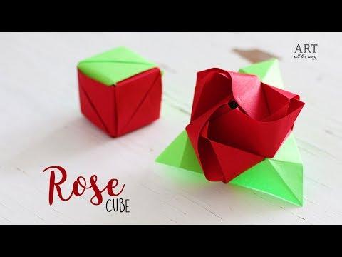 DIY Magic Rose Cube | Paper Craft Ideas | Origami Rose