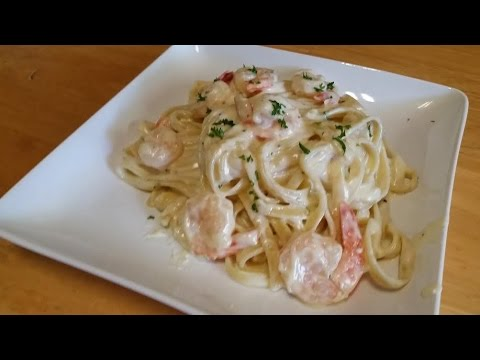 Fettuccine Alfredo With Shrimp Episode 52