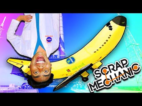 BUILDING A BANANA PLANE!   Scrap Mechanic #4