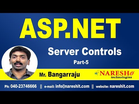 ASP NET Server Controls Post Back Vs Cross Page Post Back Part-5 | ASP.NET Tutorials |Mr.Bangar Raju