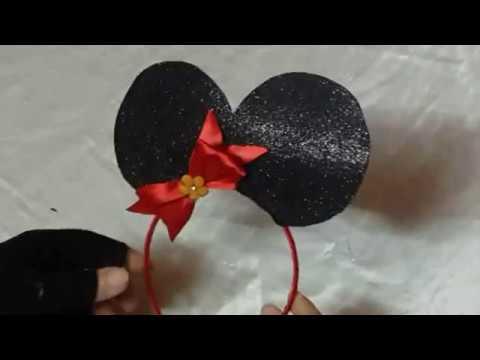 How to make DIY Mickey/Minnie Mouse Ears Headband Tutorial 🎀🎀