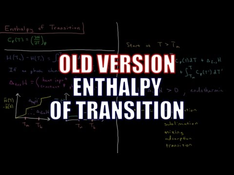 Chemical Thermodynamics 3.13 - Transition Enthalpy (Old Version)