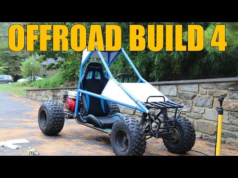 OFF ROAD GO KART BUILD 4- SEAT AND BRAKES