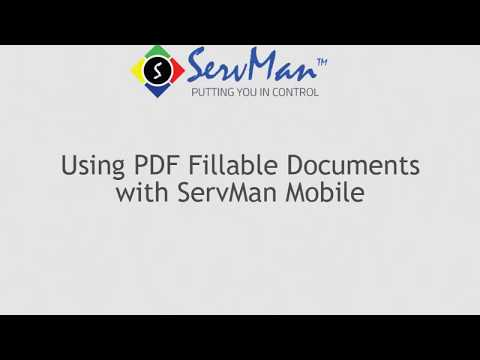 PDF Fillable Forms with Mobile