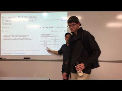 MATH 1332 - 12.1 - Sampling, Frequency Distributions, & Graphs