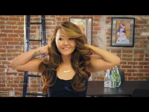 Big Victoria's Secret Hair Tutorial - Round Brush Blow Dry with Pin Curls